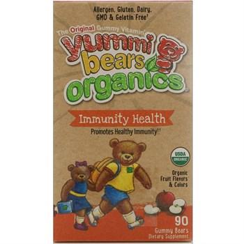 Мультивитамины Hero Nutritional Products Yummi Bears Organics, иммунное здоровье, жевательные мармеладки - фото 11079