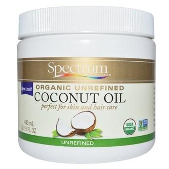 Spectrum Essentials, Органическое, кокосовое масло, нерафинированное, 15 жидких унций (443 мл) - фото 13069