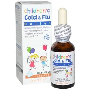 Средство от простуды и гриппа для детей NatraBio - фото 4812
