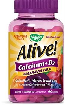 Кальций + витамин D3 Nature's Way Alive!, жевательные конфеты - фото 4836