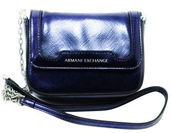 Кросс-боди Armani Exchange Metallic Saffiano Crossbody - фото 5244