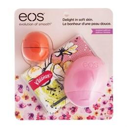 Набор EOS бальзам для губ, лосьон для рук и салфетки