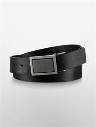 Ремень двусторонний Calvin Klein (черный/коричневый) кожа фактура