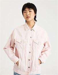Джинсовая куртка American Eagle outfitters розовая