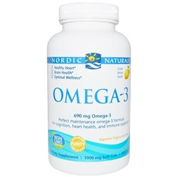 Oмега-3 со вкусом лимона, 690 мг, 120 желатиновых капсул, Nordic Naturals