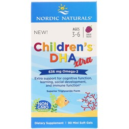 Детский DHA Xtra Nordic Naturals (636 mg Omega-3)