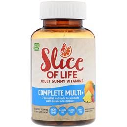 Hero Nutritional Products, Slice of Life, Жевательные витамины для взрослых, Полноценные мультивитамины+, Натуральный апельсин, Ананас, Клубника, 60 жевательных витаминов