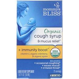Mommy's Bliss, Organic, сироп от простуды, орви и кашля, 4 Months +, 1.67 fl oz (50 ml)