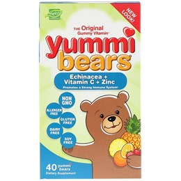 Hero Nutritional Products, Yummi Bears, Эхинацея + витамин C + цинк, 40 шт.