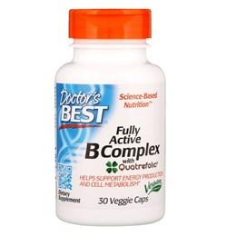 Doctor's Best, Высоко активный комплекс витаминов группы B, 30 капсул в растительной оболочке