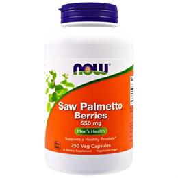 Now Foods, Ягоды пальмы сереноа, 550 мг, 250 растительных капсул