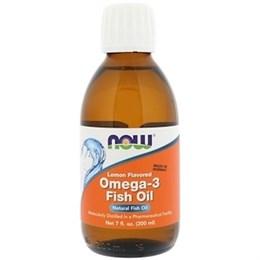 Now Foods, Рыбий жир с омега-3, со вкусом лимона, 7 жидких унций (200 мл)