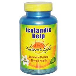 Nature's Life, Исландская ламинария, 500 таблеток