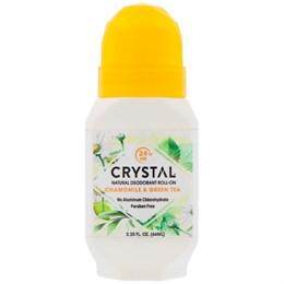 Роликовый дезодорант Crystal Body Deodorant Crystal Essence, ромашка и зеленый чай