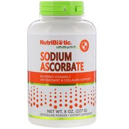 NutriBiotic, Immunity,аскорбат натрия, кристаллический порошок, 8 унций (227 г)
