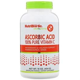 NutriBiotic, Immunity, аскорбиновая кислота, 100% чистый витамин C, 454 г (16 унций)