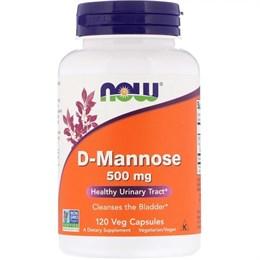Now Foods, D-манноза, 500 мг, 120 растительных капсул