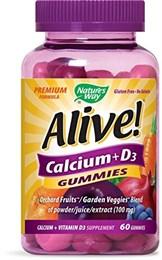 Кальций + витамин D3 Nature's Way Alive!, жевательные конфеты