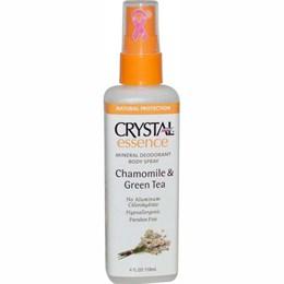 Дезодорант-спрей для тела Crystal Body Deodorant Crystal Essence, ромашка и зеленый чай