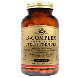 Комплекс витаминов B, с витамином С Solgar, формула против стресса