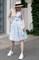 Сарафан синие полоски принт фламинго - фото 14207