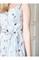 Сарафан синие полоски принт фламинго - фото 14211