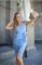 Сарафан голубой джинс вышивка цветы - фото 14213