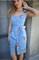 Сарафан голубой джинс вышивка цветы - фото 14214