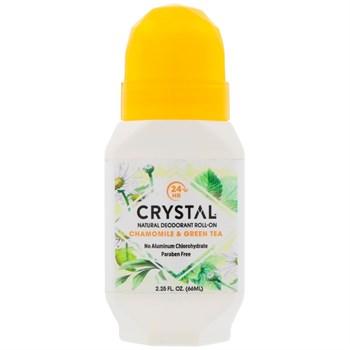 Роликовый дезодорант Crystal Body Deodorant Crystal Essence, ромашка и зеленый чай - фото 14875