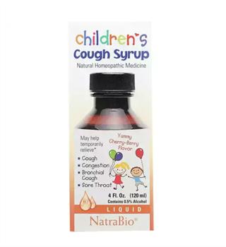 Детский сироп от кашля NatraBio - фото 16139