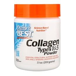 Doctor's Best, Коллаген, порошковый типов 1 и 3, 200 г