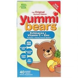 Hero Nutritional Products, Yummi Bears, Эхинацея + витамин C + цинк, 40 шт.