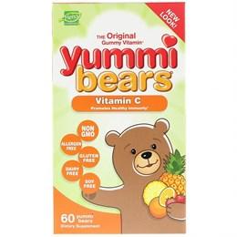 Hero Nutritional Products, Yummi Bears, витамин C, фруктовые мармеладки, 60 шт.