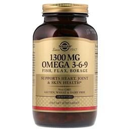 Solgar, Омега 3-6-9, 1300 мг, 120 мягких таблеток