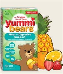 Hero Nutritional Products, Yummi Bears, Fiber, All Natural Fruit Flavors, 60 Gummy Bears