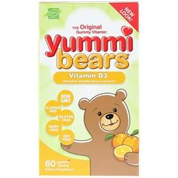 Hero Nutritional Products, Yummi Bears, витамин D3, только натуральные фруктовые ароматизаторы, 600 МЕ, 60 шт.