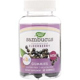 Nature's Way, Sambucus Gummies для детей, бузина, 60 жевательных конфет