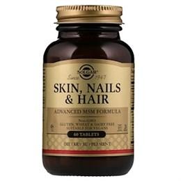 Solgar Кожа, ногти, волосы, улучшенная рецептура с МСМ, 60 таблеток