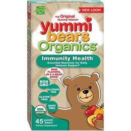 Hero Nutritional Products, Yummi Bears Organics, Здоровый иммунитет, 45 Yummi Bears