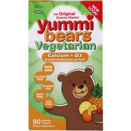 Hero Nutritional Products, Yummi Bears, кальций + витамин D3, вкус натуральных фруктов, 90 шт.