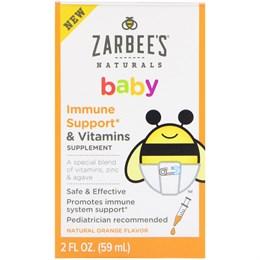 Витамины для поддержки иммунитета Zarbee's Baby, натуральный апельсиновый вкус