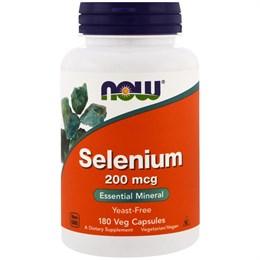 Now Foods, Селен, 200 mcg, 180 вегетерианских капсул