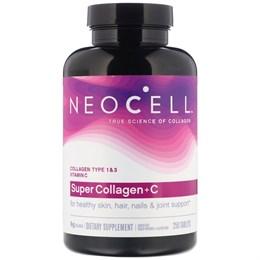 Neocell, Super Collagen+C, коллаген типа 1 и 3, 6000 мг, 250 таблеток
