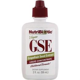 NutriBiotic, Vegan GSE Экстракт семян грейпфрута, жидкий концентрат, 2 жидких унции (59 мл)