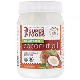 Dr. Murray's, Органическое кокосовое масло первого отжима, отжатое шнековым прессом, нерафинированное, 473 л (16 жидк. унций)