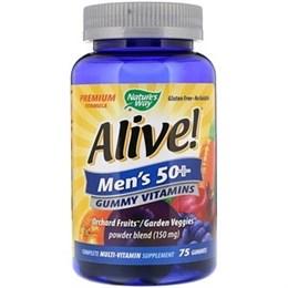 Nature's Way, Alive!, жевательные витамины для мужчин старше 50 лет, 75 жевательных таблеток (2)