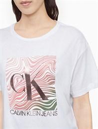 Укороченная футболка Calvin Klein Jeans
