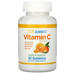 California Gold Nutrition, Витамин С, натуральный апельсиновый вкус, вегетарианский, 90 жевательных капсул