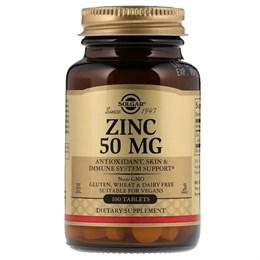 Solgar, Цинк, 50 мг, 100 таблеток