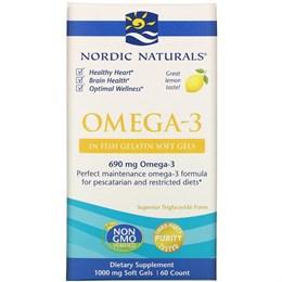 Omega-3 для взрослых Nordic Naturals, лимонный